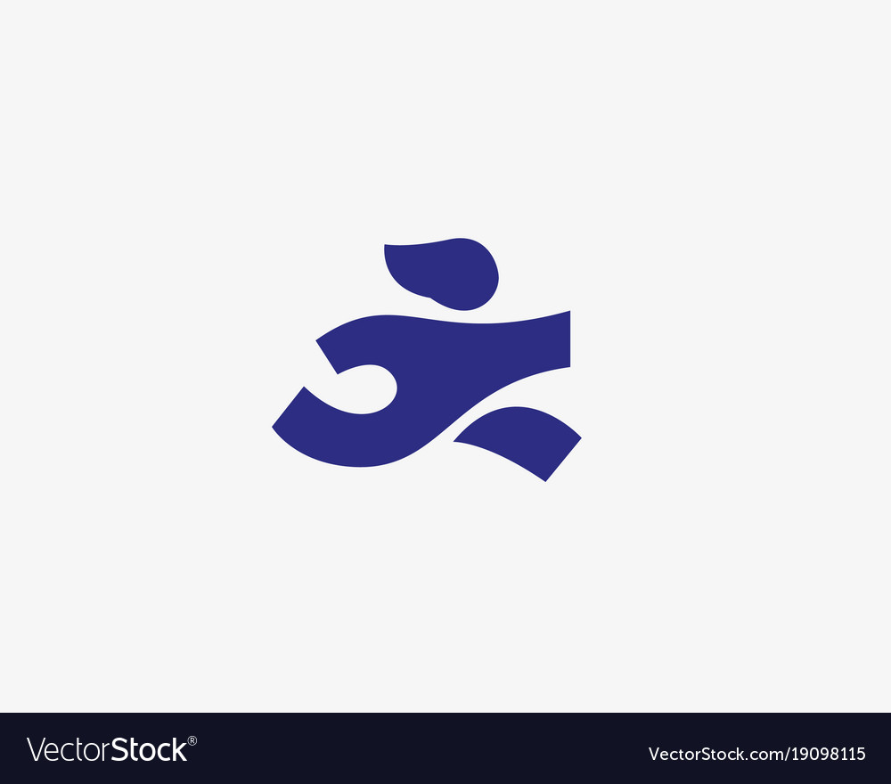 Running man logotype care delivery vector image