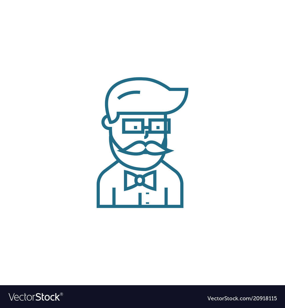 Show-business worker linear icon concept show