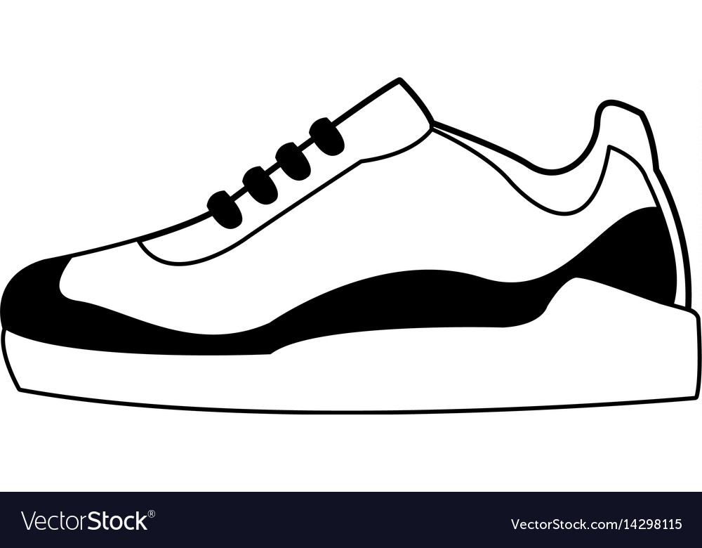 Sneakers shoe icon image vector image