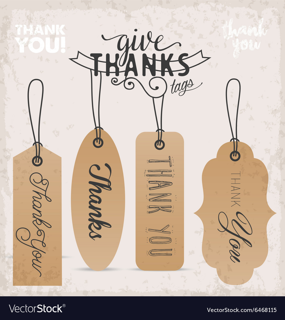 Thanksgiving Design Elements and Gift Tags
