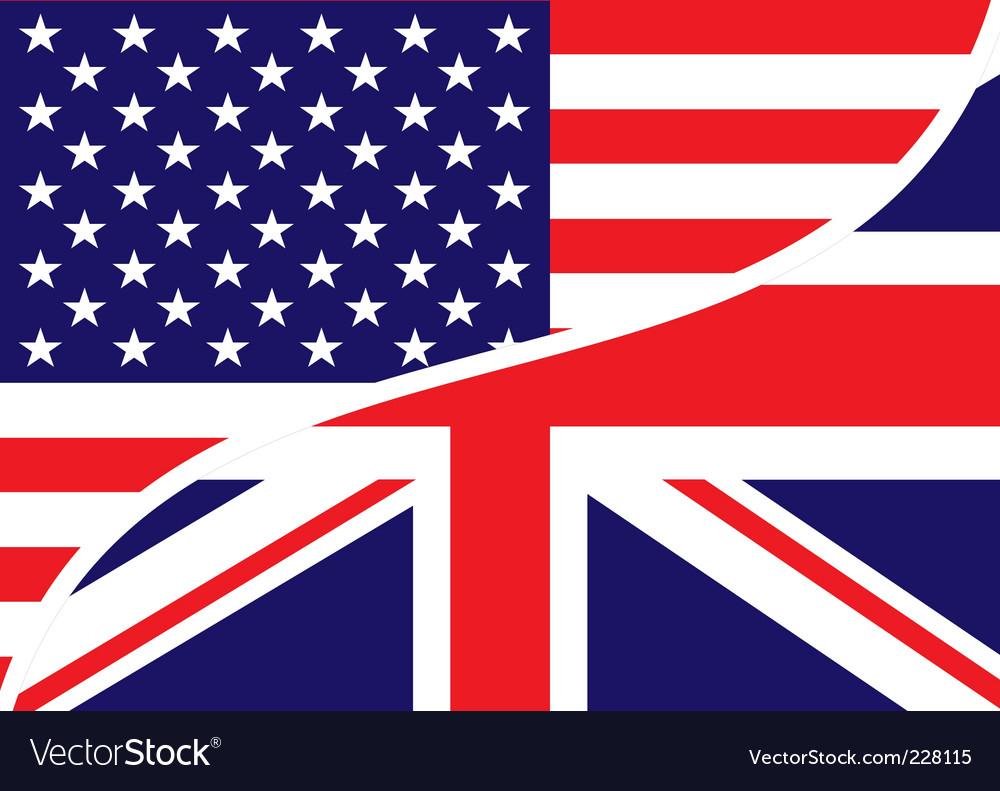usa british flag royalty free vector image vectorstock rh vectorstock com british flag vector black and white british flag vector free download