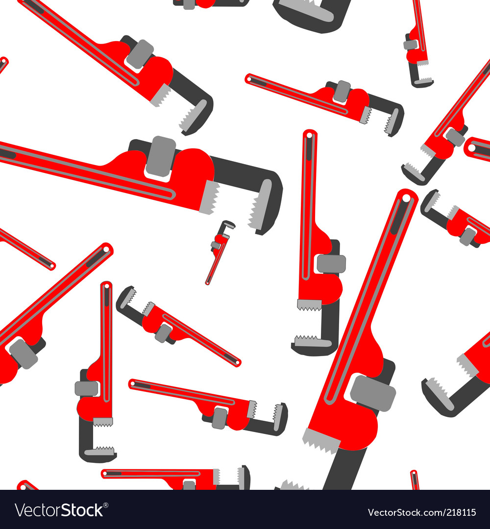 Wrench pipe pattern vector image