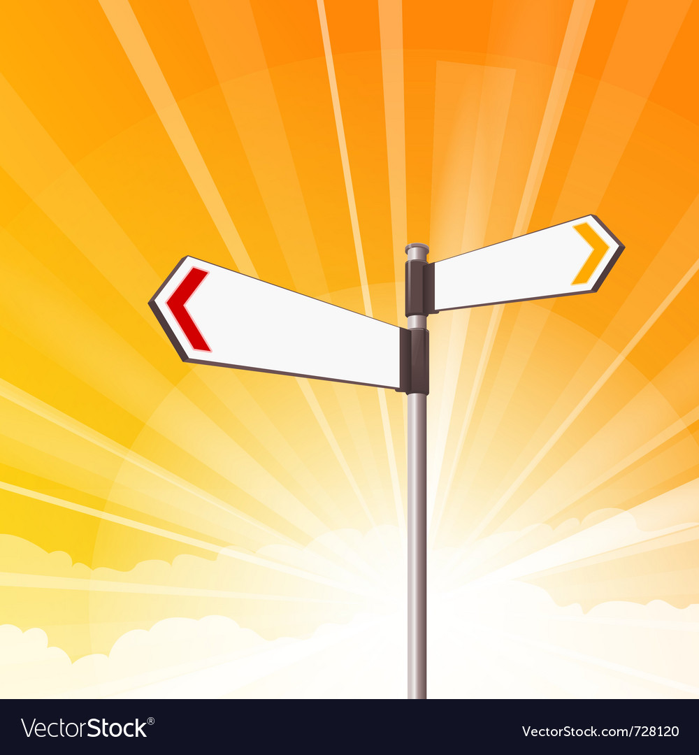 Blank destination signs vector image