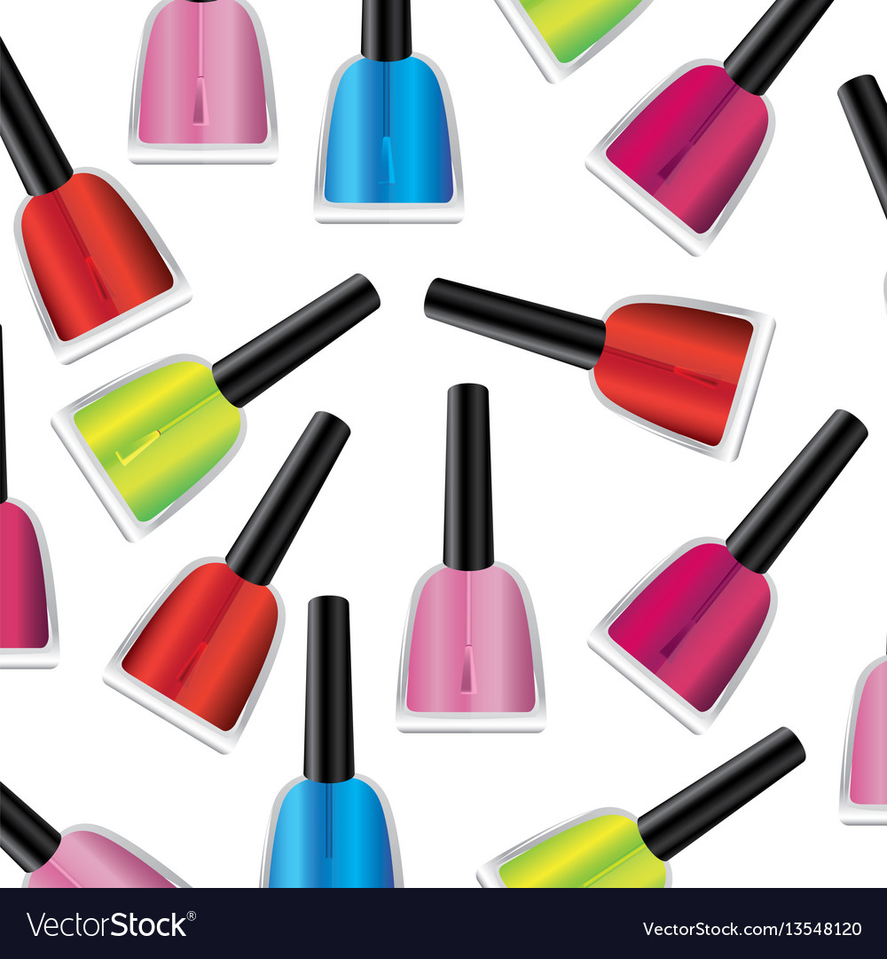 Colored nails polish background icon