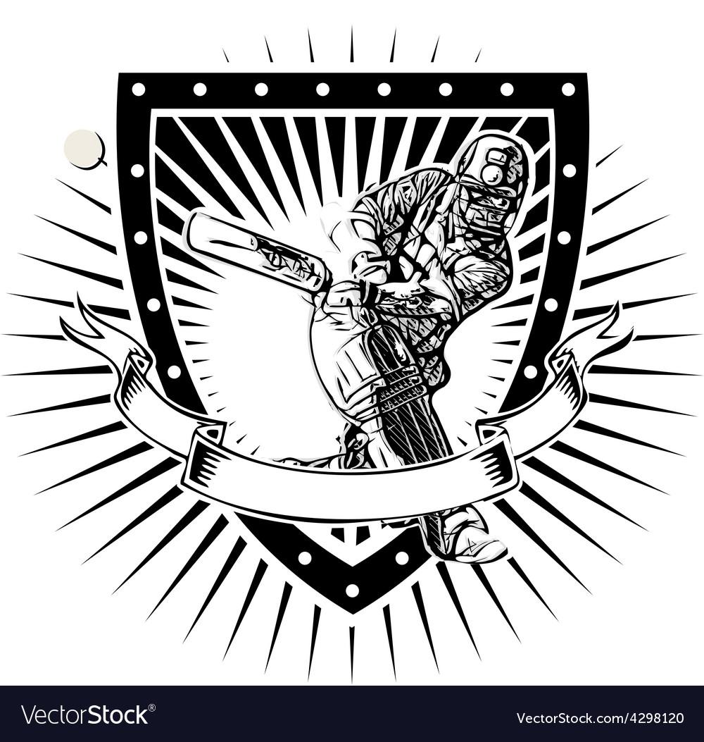 Cricket shield vector image