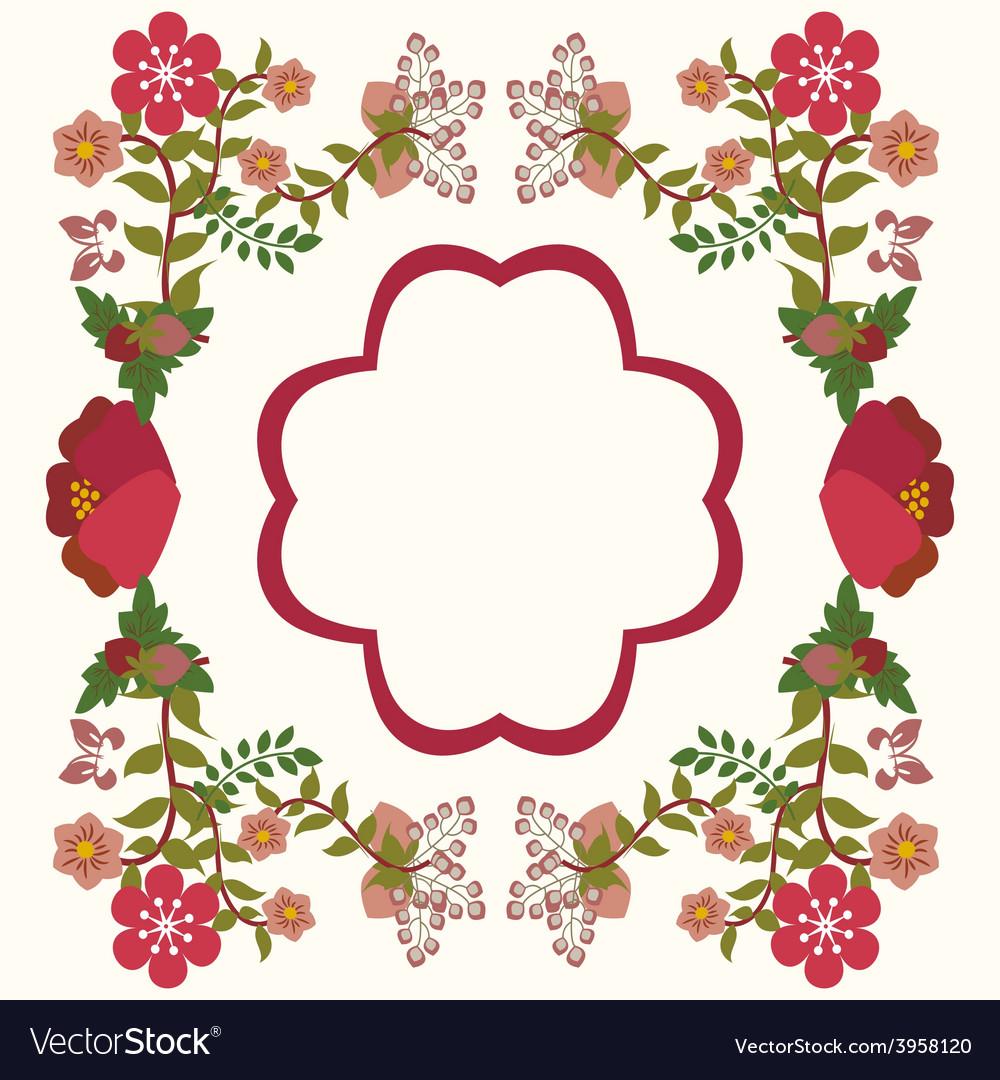 Flower Frame Background Vintage Royalty Free Vector Image
