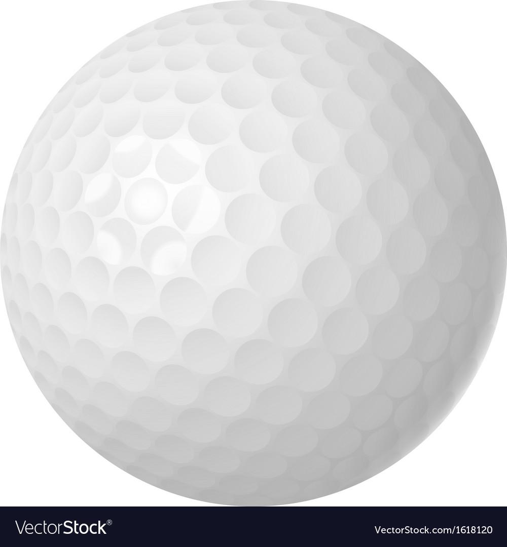Golf ball over white vector image