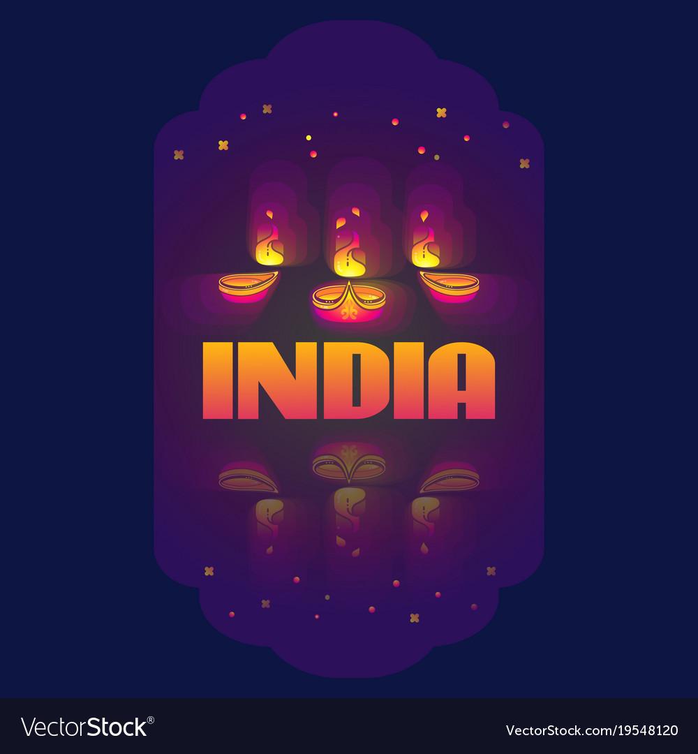 Indian oil lamp diya