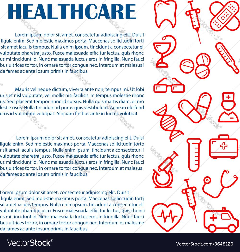 Medical banner for infographics design template