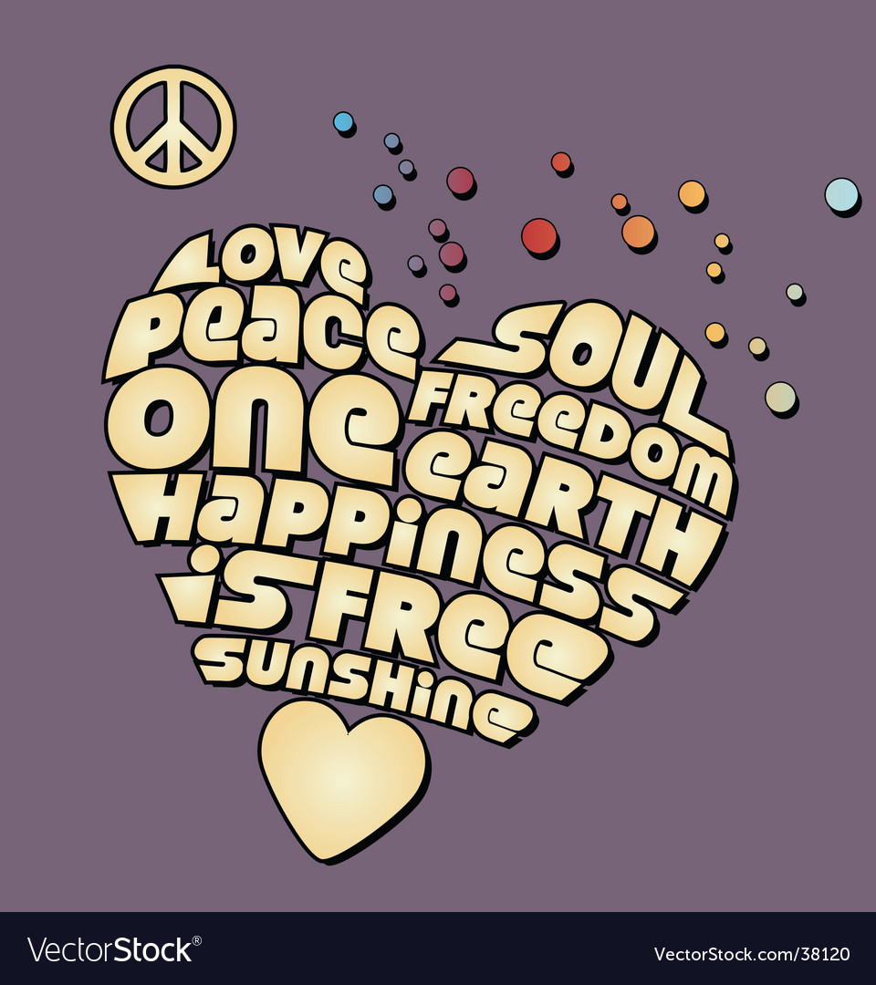 Peace heart graphic vector image