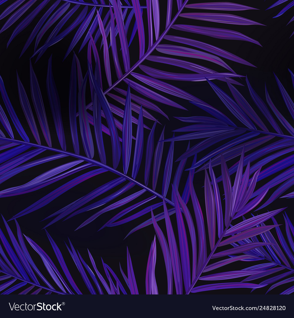 Tropical Neon Palm Leaves Seamless Pattern Floral Vector Image Summer sale banner template with neon text palm leaves and clouds tropical backdrop promo badge for your seasonal design vector illustration. vectorstock