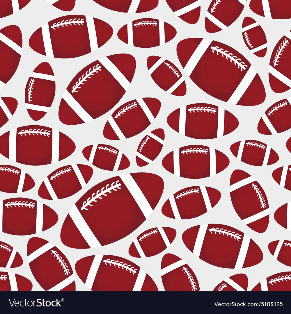 e7bd79bc58879d American football balls seamless color sport Vector Image