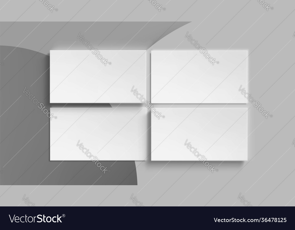 Blank white business cards template