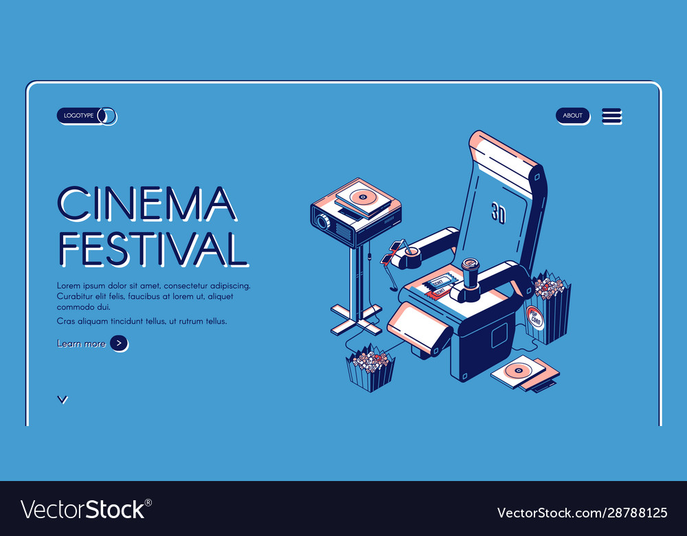 Cinema festival movie time entertainment banner