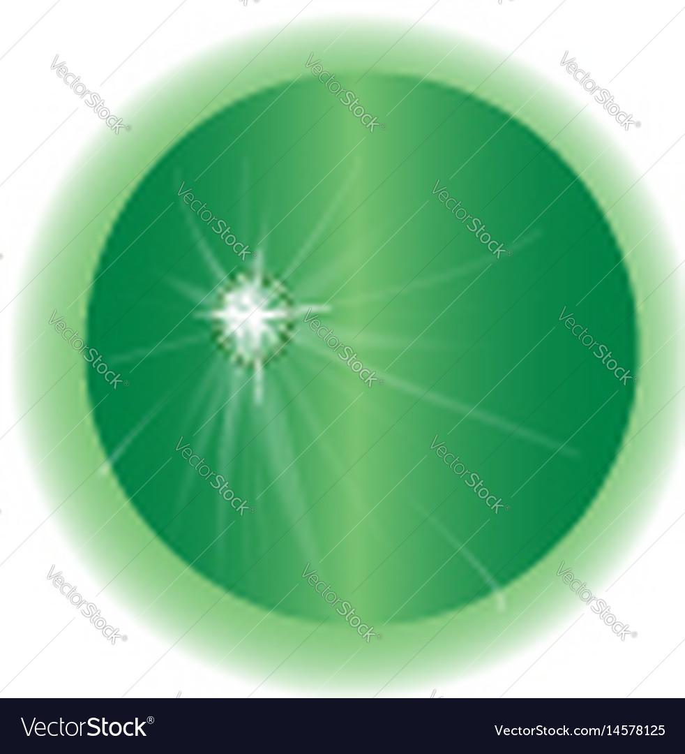 Emerald globe vector image