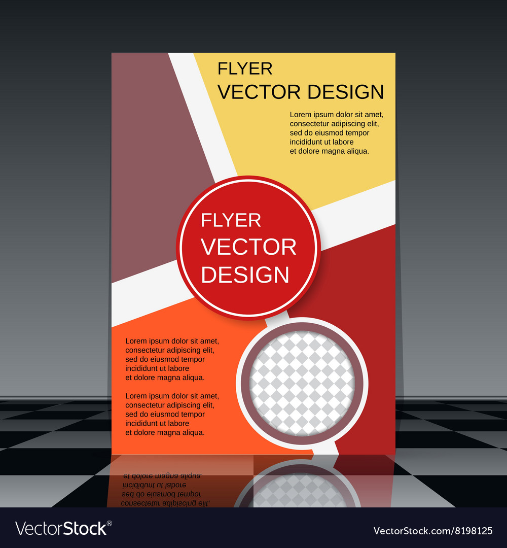 professional flyer design template vector image - Free Flyer Design Templates
