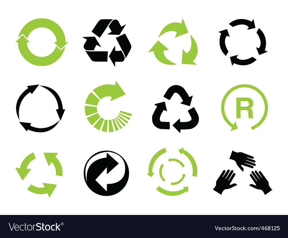 Recycle Symbols Royalty Free Vector Image Vectorstock