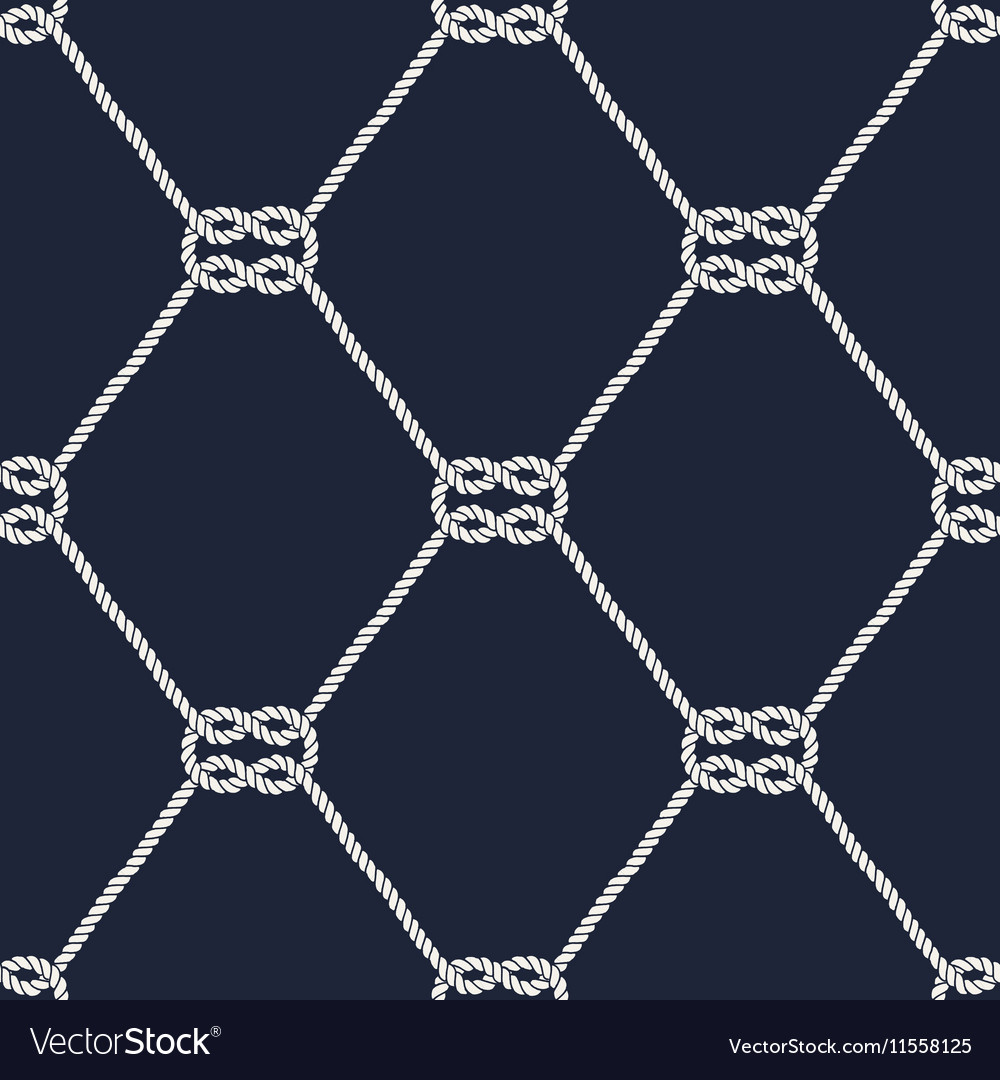 Seamless Nautical Rope Pattern Square Knots Vector Image Knot Diagram