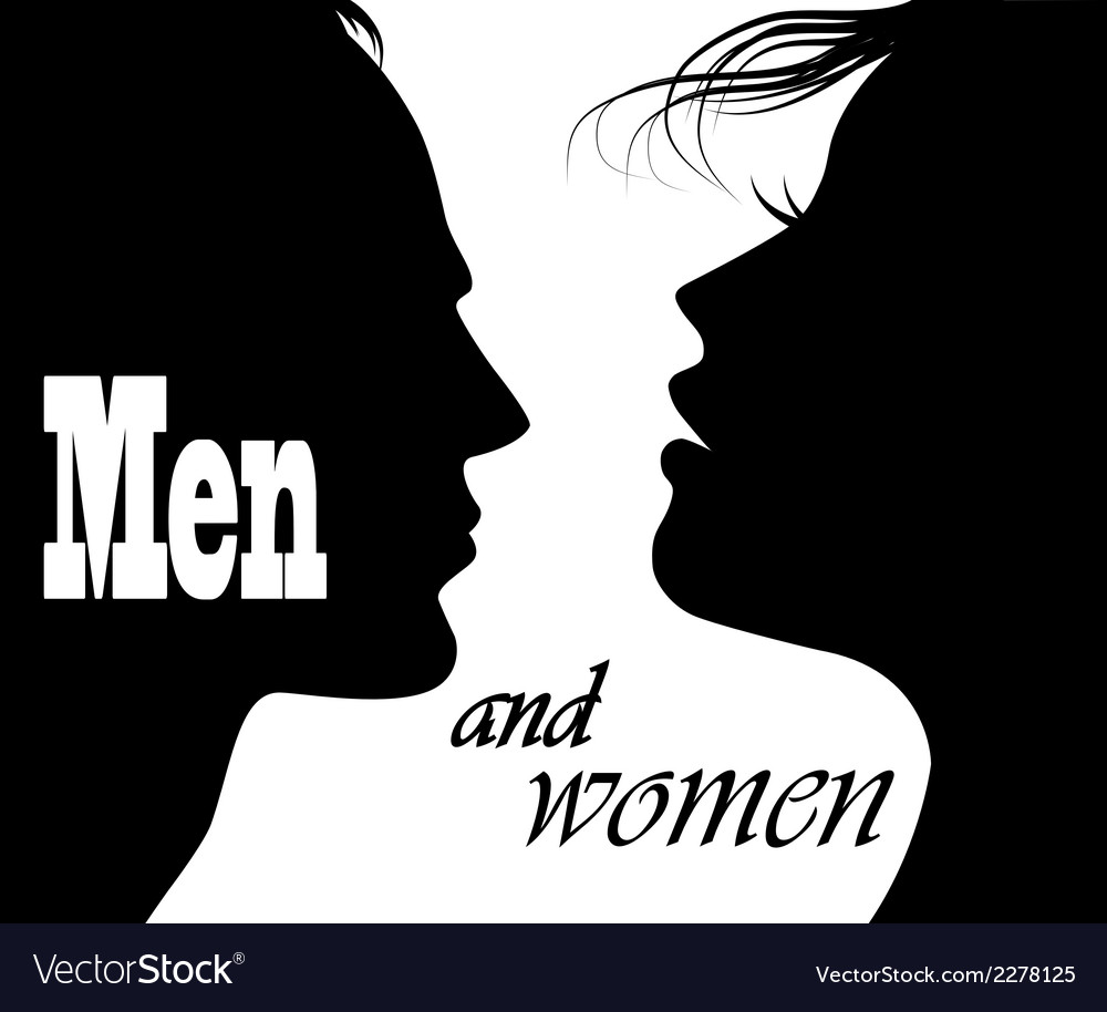 Silhouettes of men and women vector image