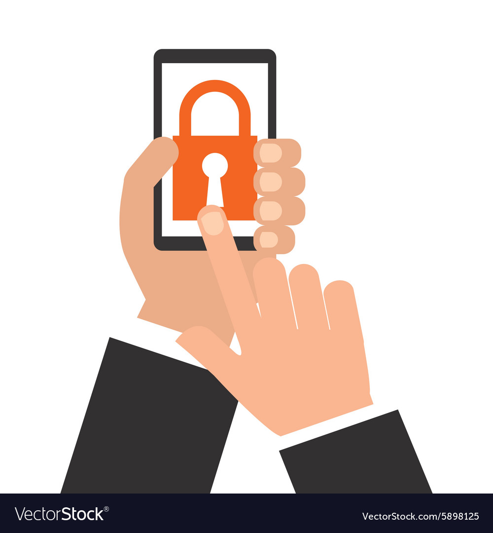 Smartphone security vector image