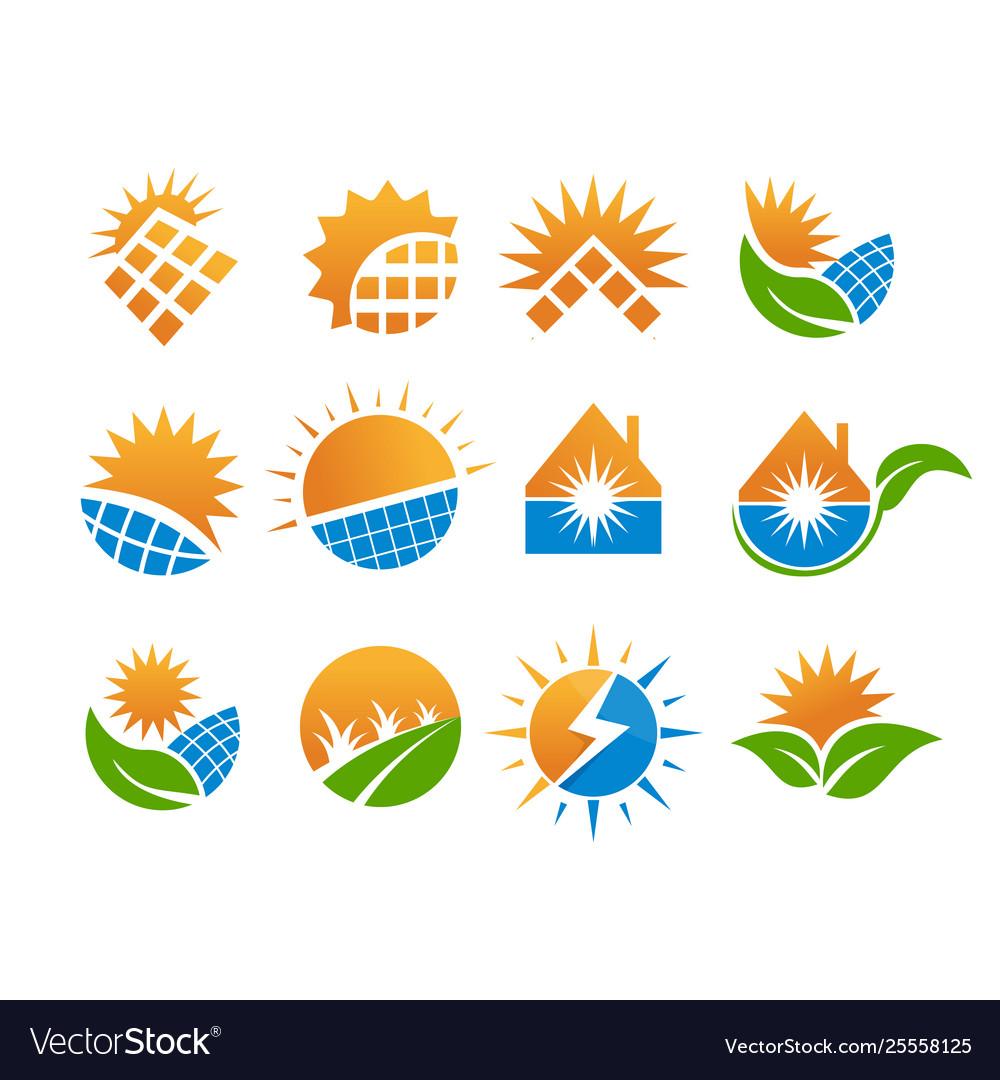 Solar logo set design