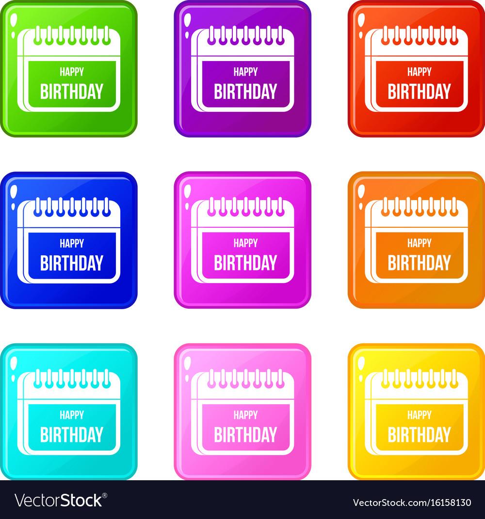 Birthday Calendar.Calendar Happy Birthday Set 9