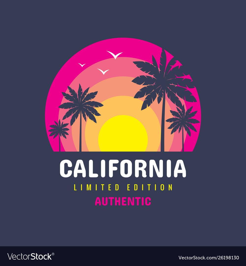 California - concept logo badge