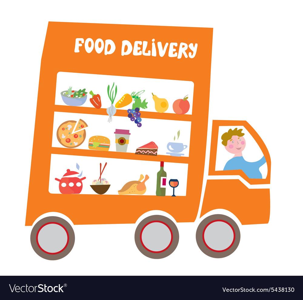 Food delivery cartoon