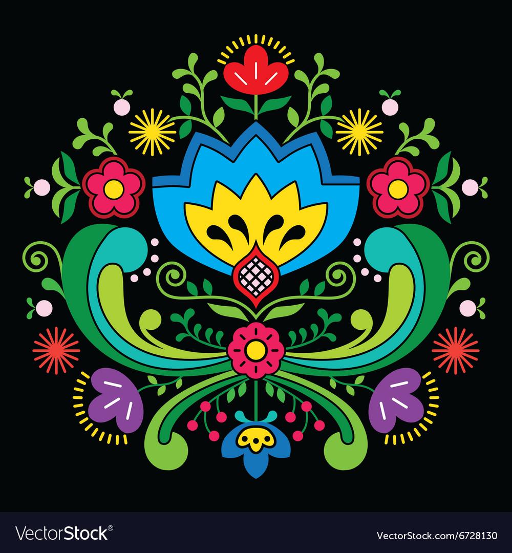 Norwegian folk art Bunad pattern - Rosemaling styl