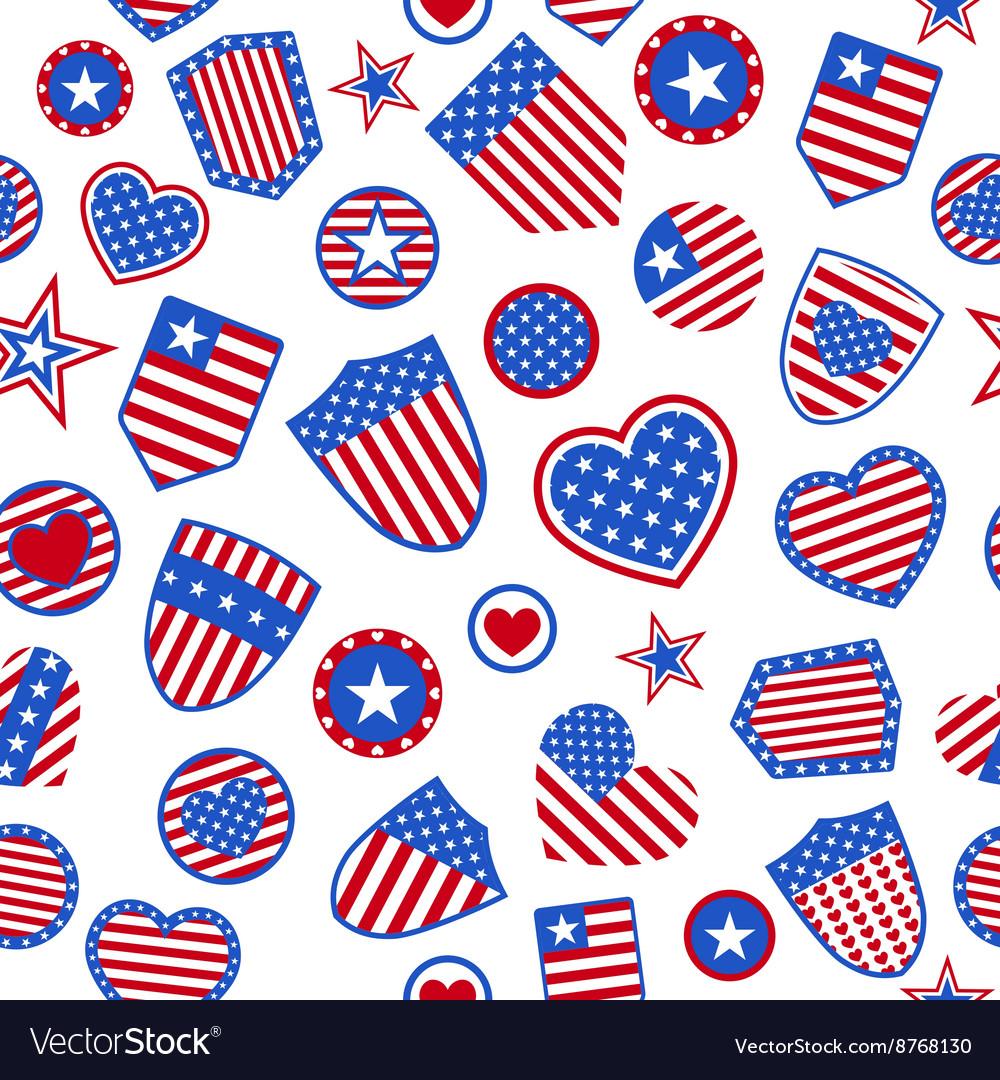 Seamless Pattern Of Usa Symbols Royalty Free Vector Image
