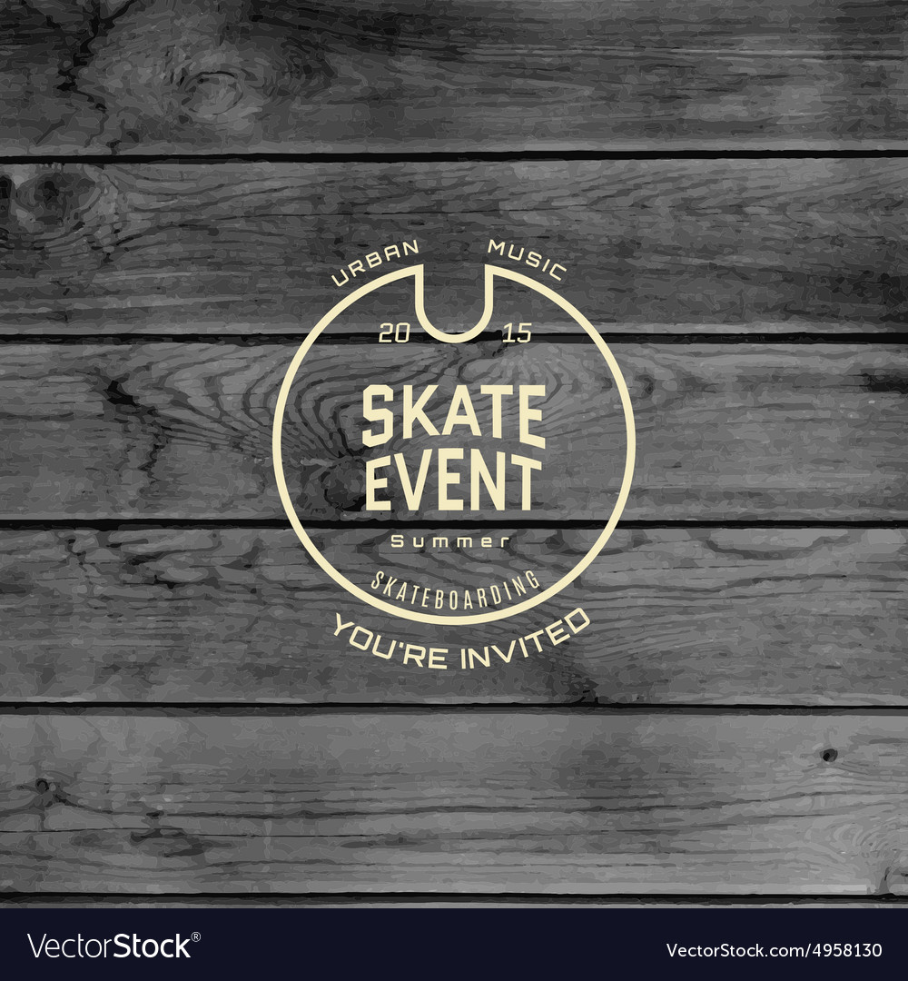 Skate event badges logos and labels for any use vector image