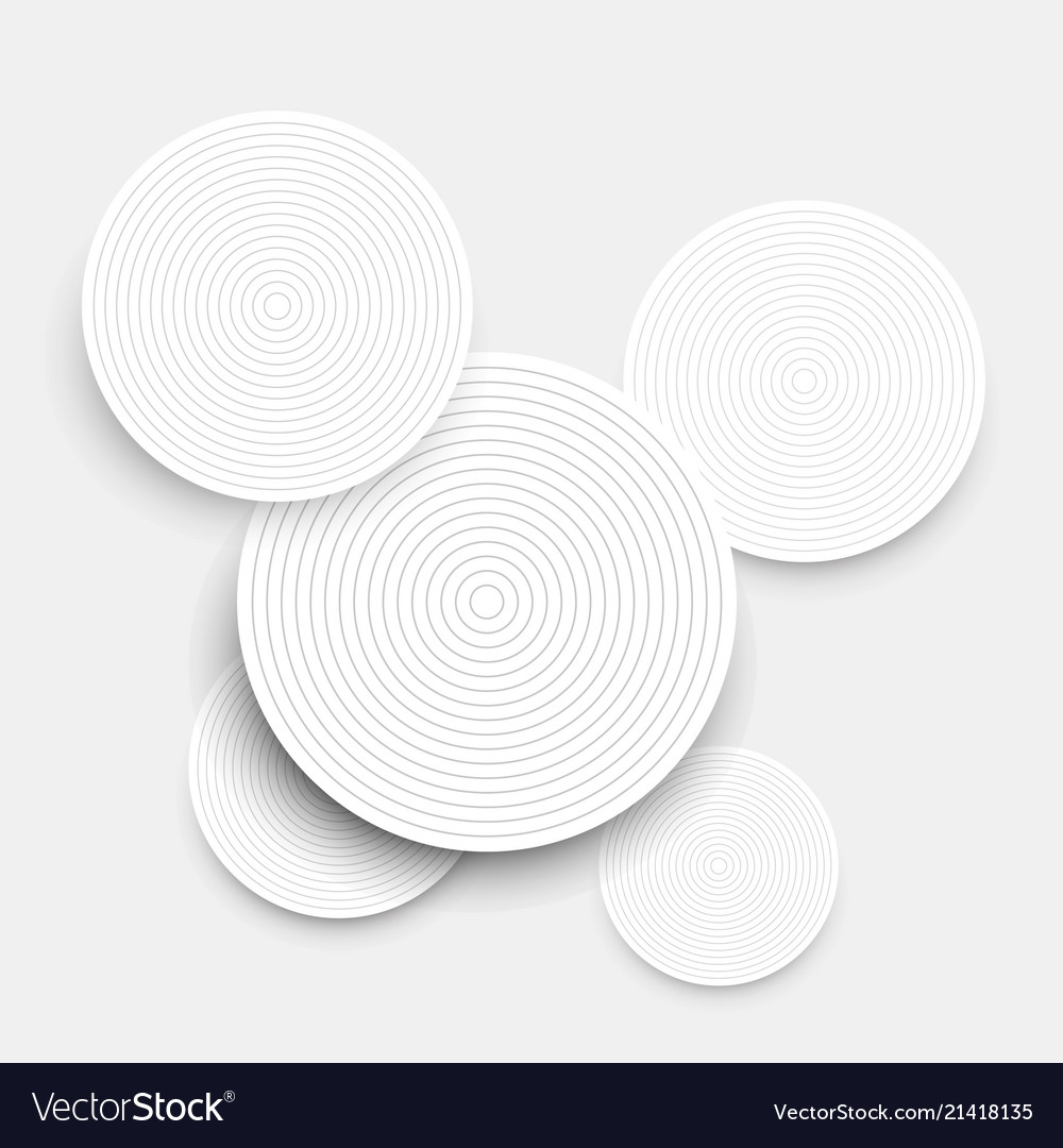 Abstract background with white paper circles and