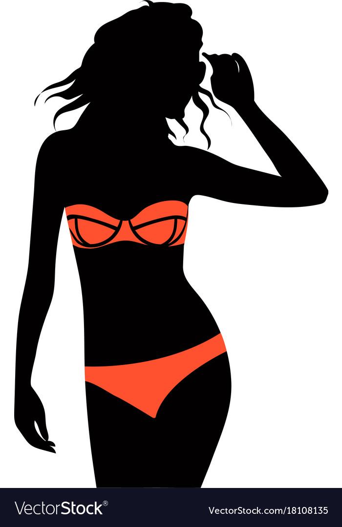 ece9fb92da Beautiful young woman with sunglasses and bikini Vector Image