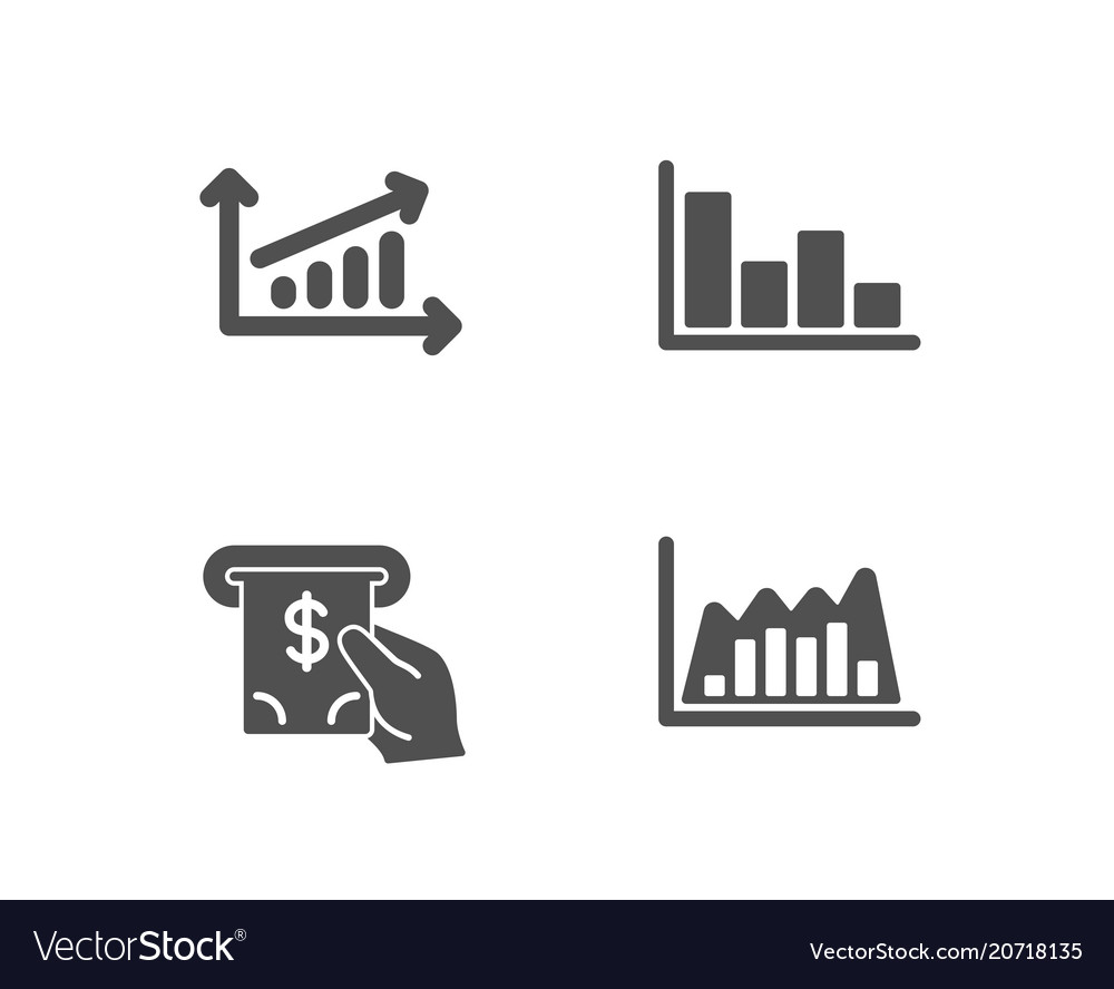 Chart histogram and atm service icons
