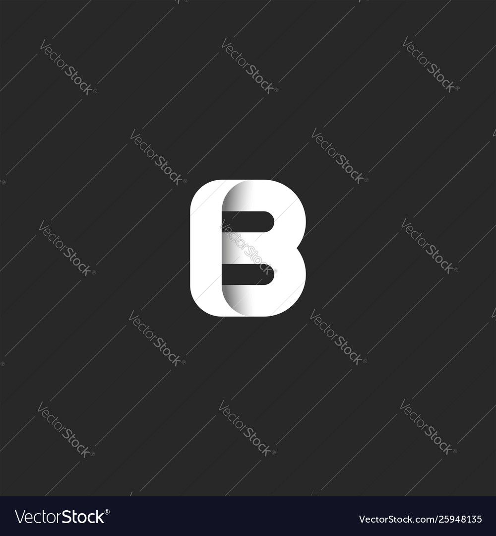 Creative mark letter b logo bold monogram stylish