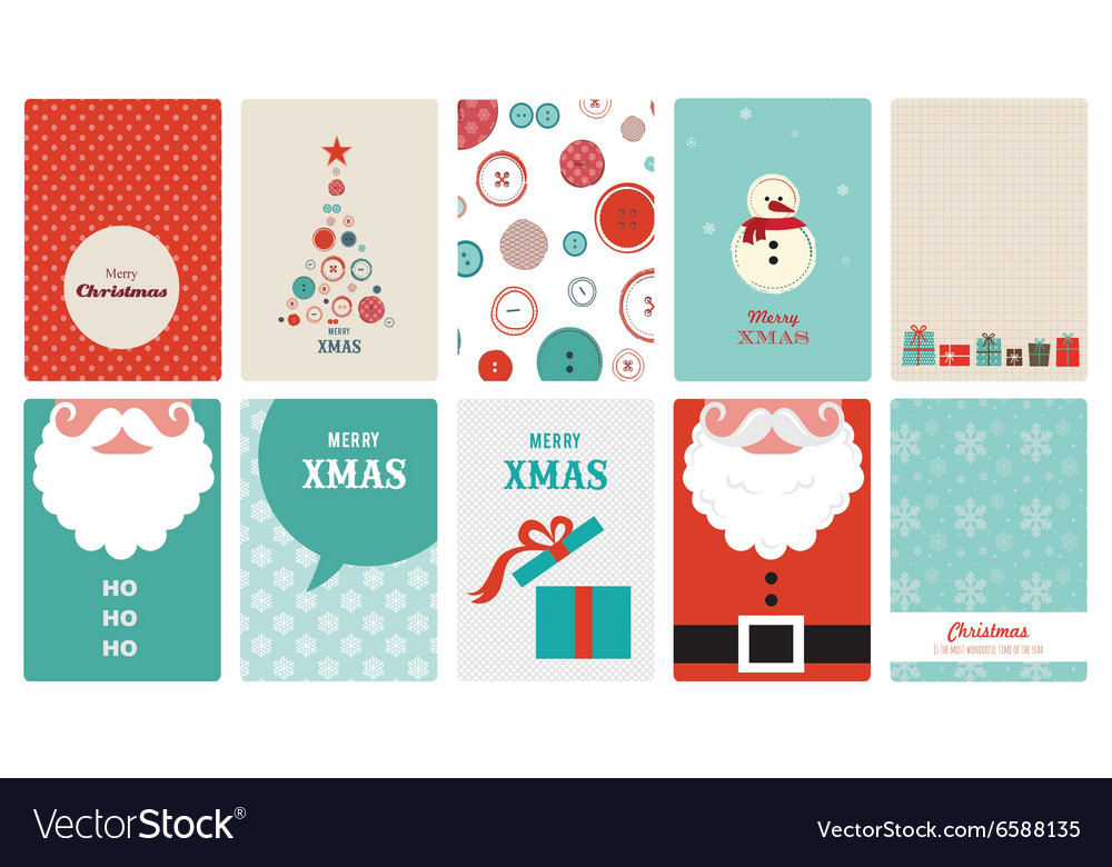 Cute collection vintage christmas greeting
