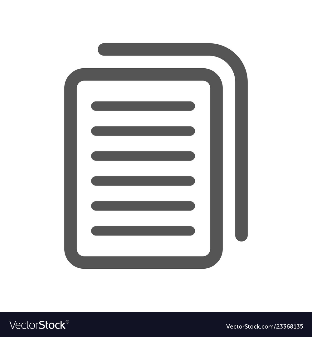 Document icon stock flat