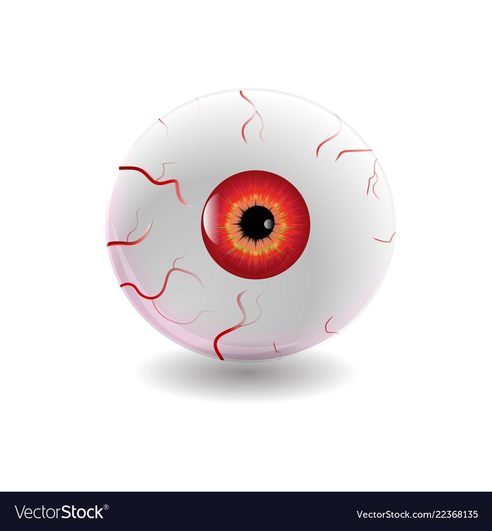halloween human eye eyeball with veins icon vector image