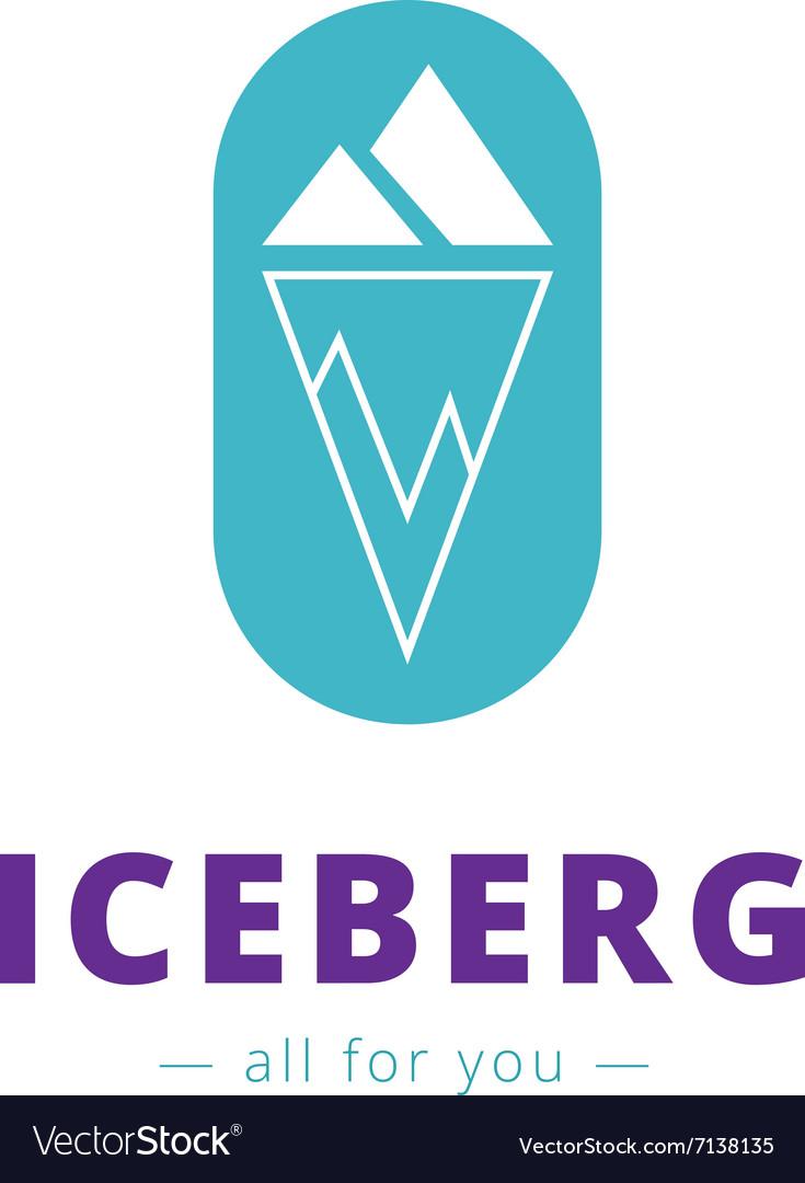 Minimalistic iceberg logo