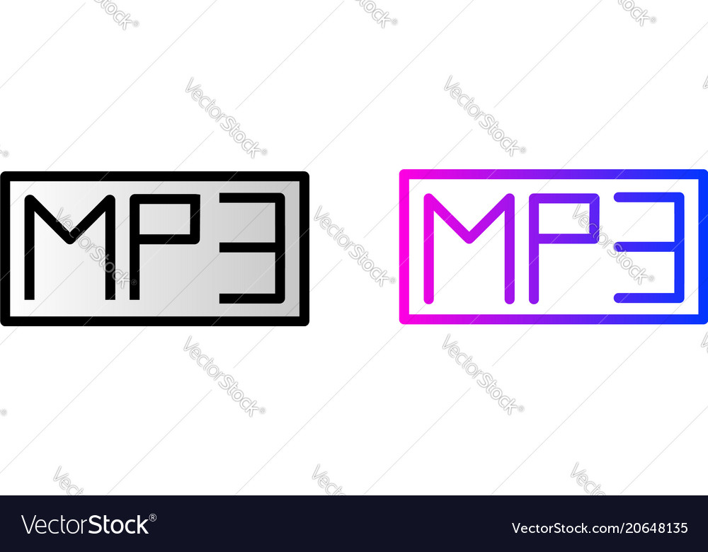Mp3 icon mp3 music audio format