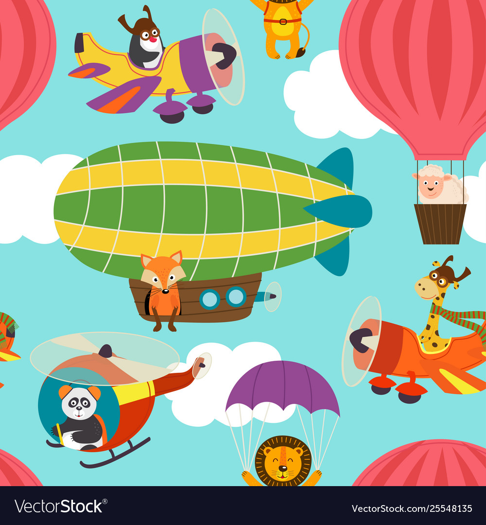 Seamless pattern with air transports