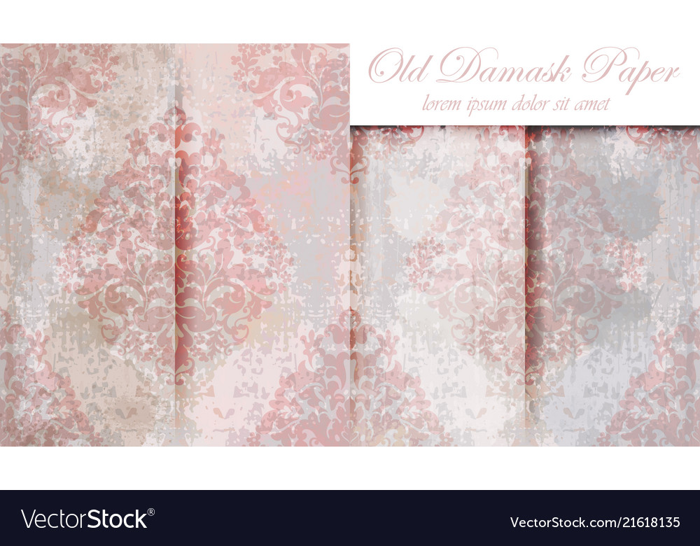Vintage baroque pattern set beautiful