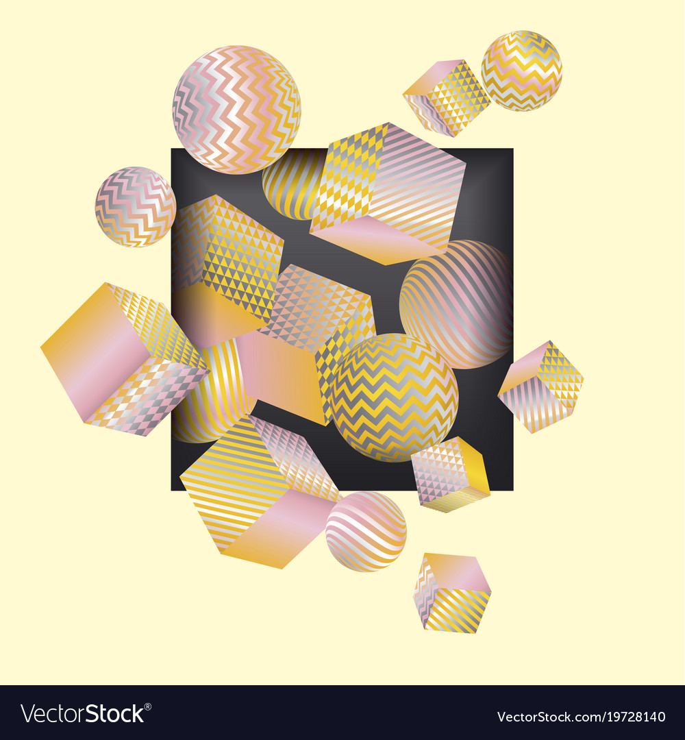 Abstract 3d geometric