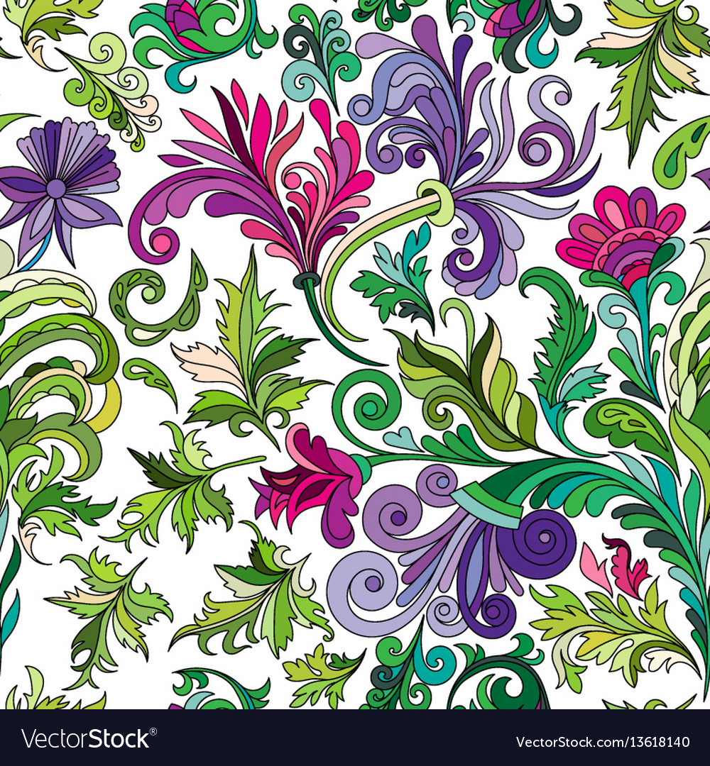 Decorative hand drawn doodle nature ornamental vector image