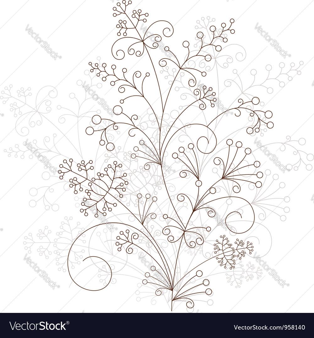 Floral design grassy ornament