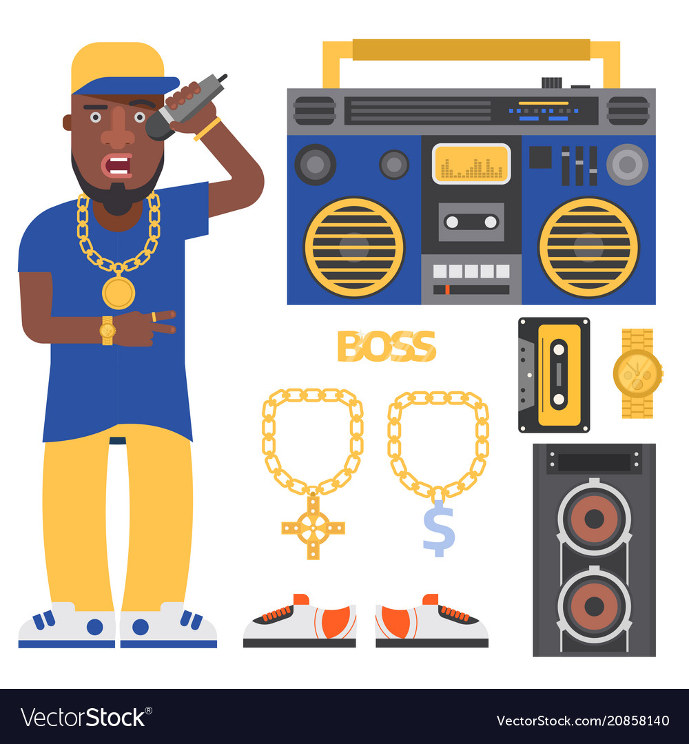 Hip hop man accessory musician accessories