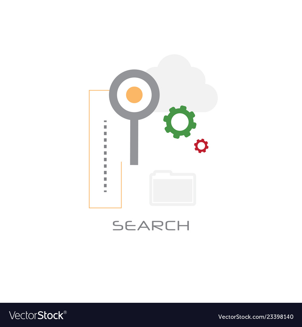 Magnifying glass database folder data search
