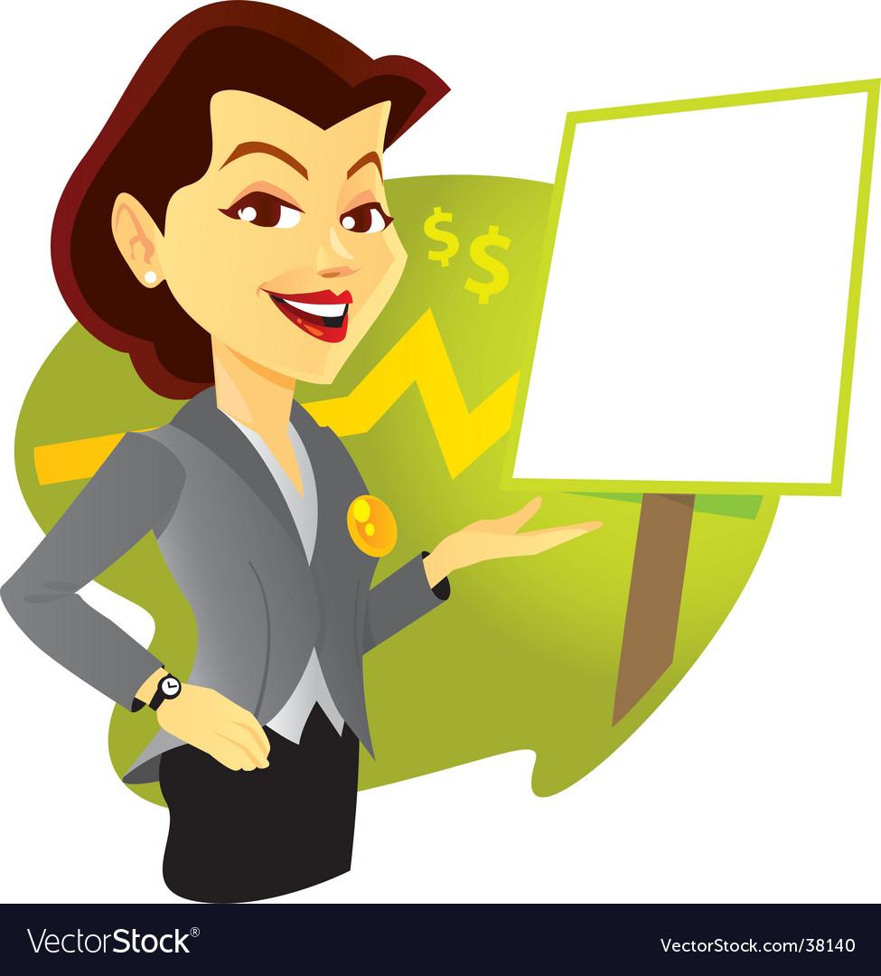 Sales woman vector image