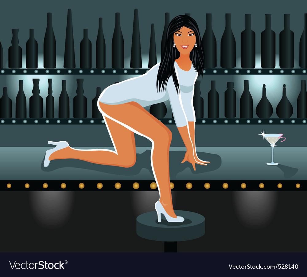 Sexy girl in night club