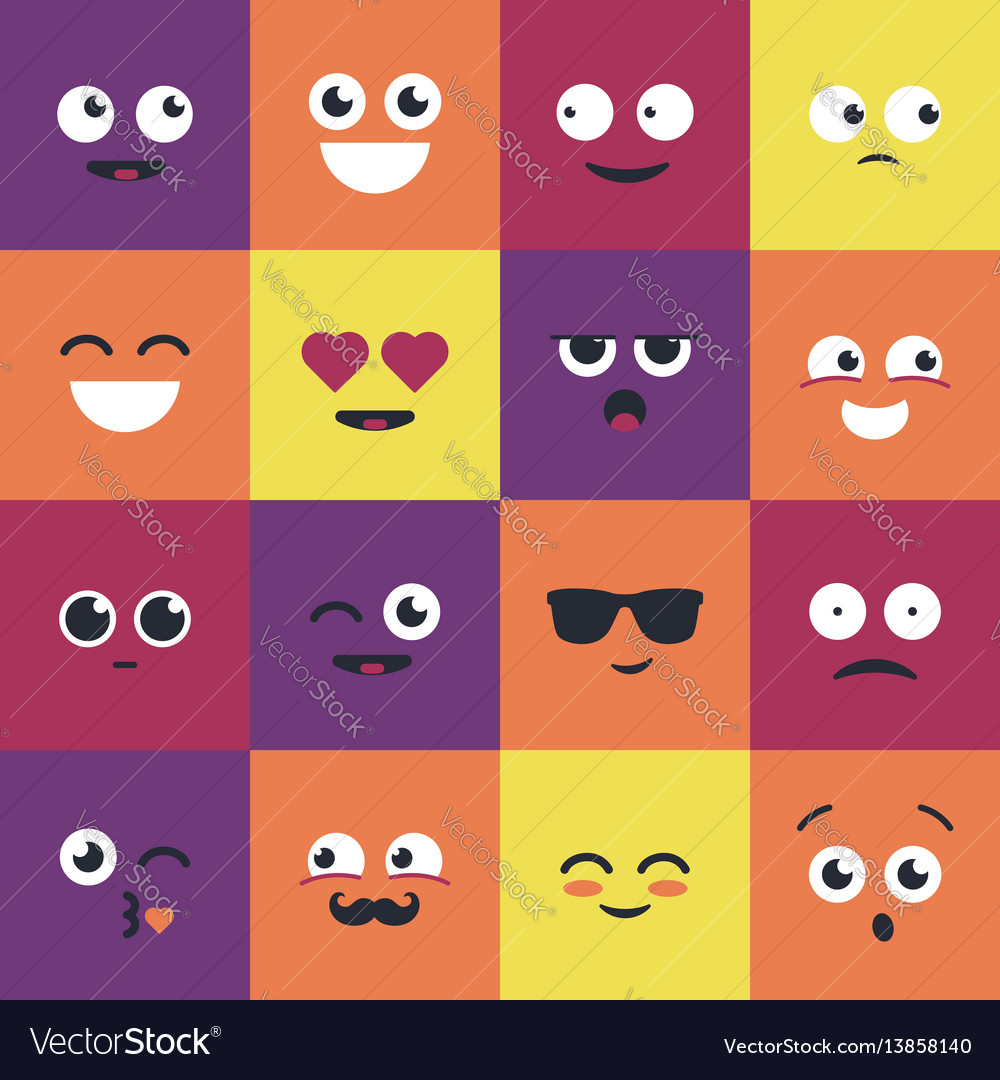 Smiley - modern set of emoji